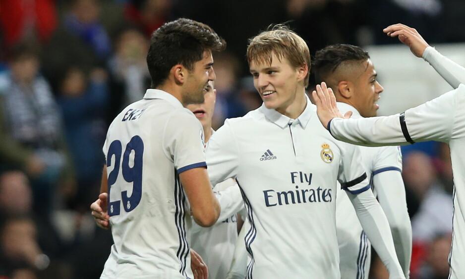 DEBUT FRA START: Martin Ødegaard er så godt som sikret en fin karriere i Real Madrid, ifølge Roberto Carlos.  Foto:Erik Johansen / NTB scanpix