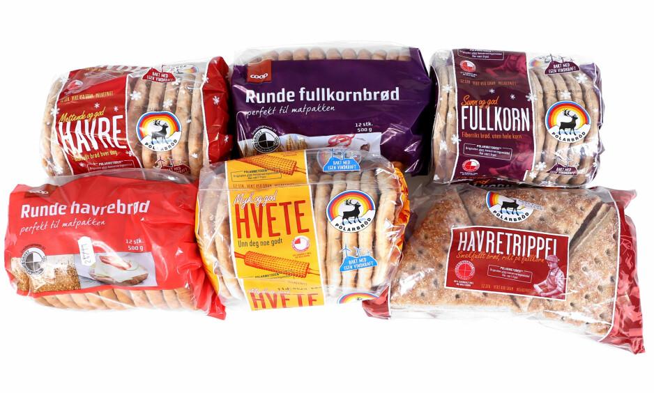 SUKKERBOMBER: Polarbrød er holdbare lenge, men ikke alle er klar over at disse inneholder mye mer sukker enn vanlig brød.
