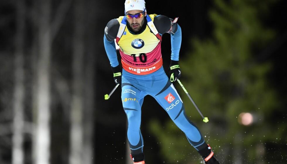 FORBANNA: Franske Martin Fourcade liker ikke at Norge har hentet hans tidligere trener. Foto: Scanpix