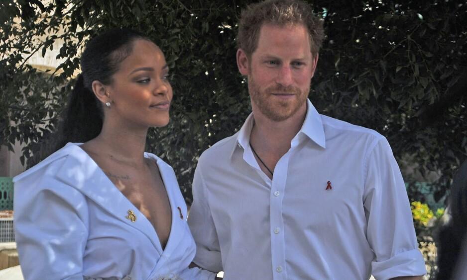 ENGASJERT: Rihanna og prins Harry gjennomførte begge en hiv-test denne uka. Målet er vise hvor enkelt det er for alle å sjekke seg. Foto: NTB Scanpix