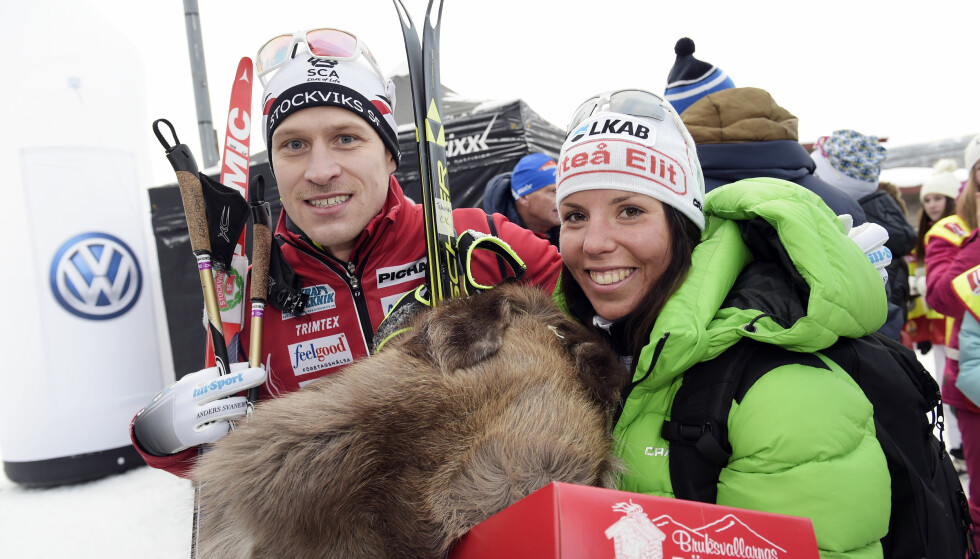 SLUTT: Charlotte Kalla og Anders Svanebos forhold er over. Foto: Ulf Palm / TT / Kod 9110