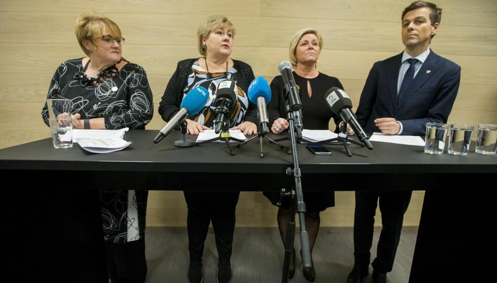 Erna om budsjettavtalen: - Krevende for Høyre