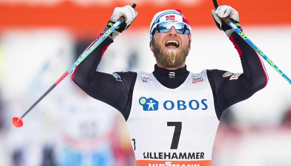 VANT: Martin Johnsrud Sundby gikk til topps i minitouren på Lillehammer. Foto: Jon Olav Nesvold / NTB scanpix