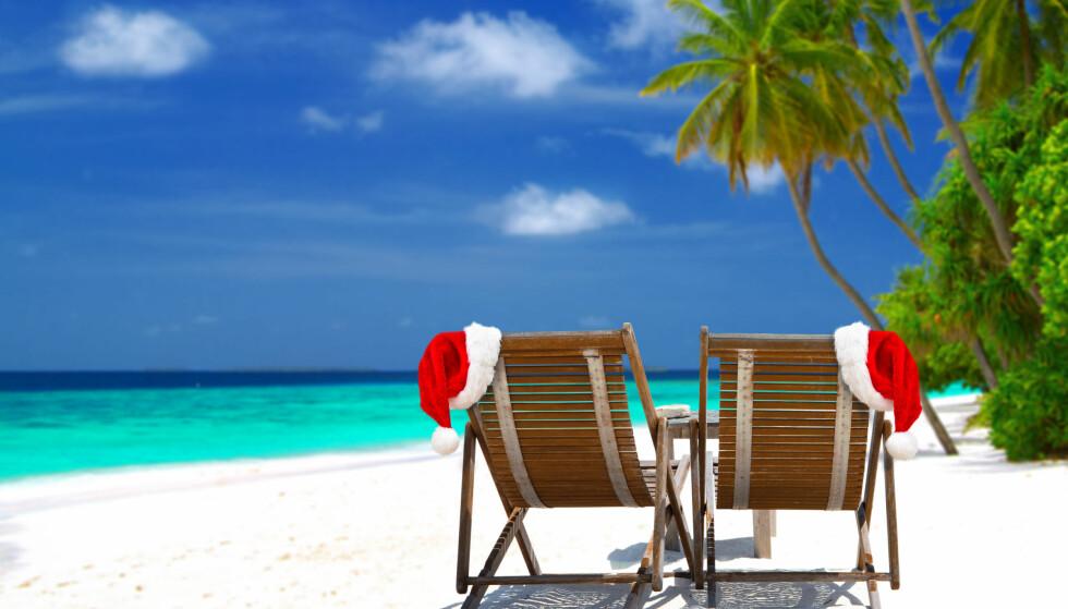 FLERE REISER: Sol, varme og lekre sandstrender frister stadig flere nordmenn, også i jula. Foto: Shutterstock / NTB Scanpix