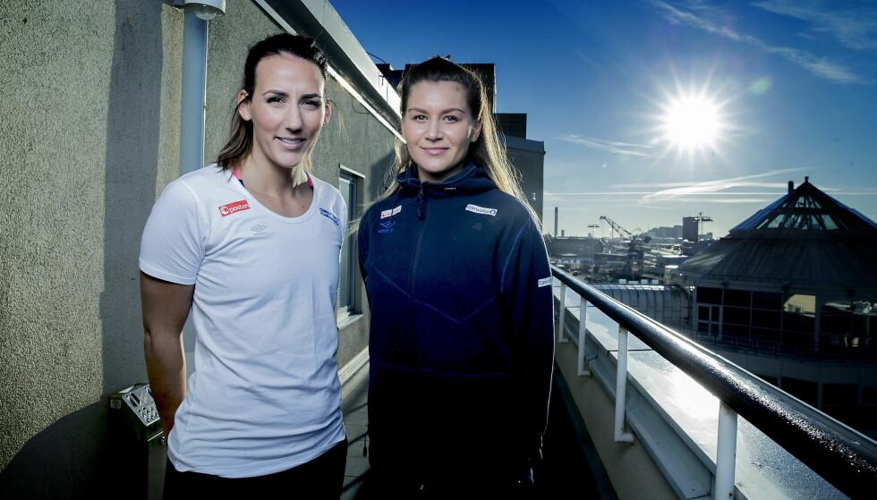 NORSKE VÅPEN: Marta Tomac og Amanda Kurtovic, begge med kroatiske fedre, blir viktige i EM-kampen mot Kroatia. Foto: Bjørn Langsem / Dagbladet