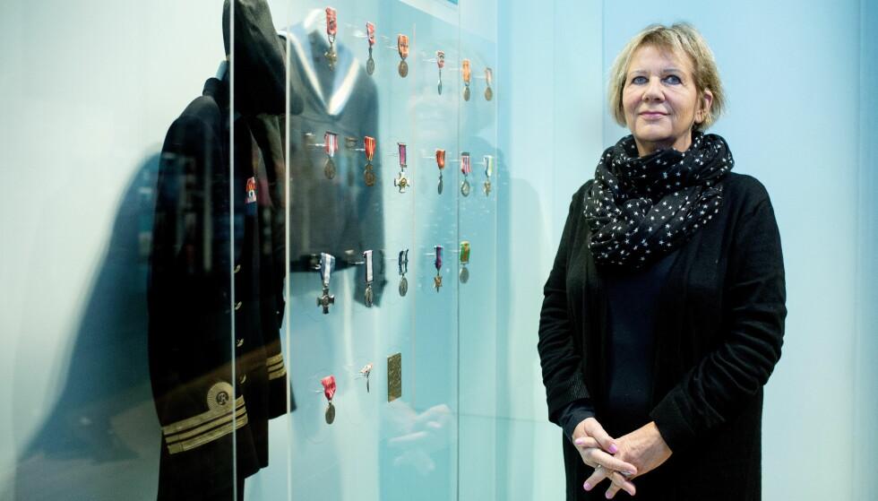 BLIR RETTSAK: Marit Larsen er datter av krigshelten Shetlands-Larsen. Hun oppnådde ikke rettsforlik om eierskapet til alle hans medaljer, uniformer og dokumenter i Bergen tingrett i dag. Foto: Eivind Senneset, Dagbladet