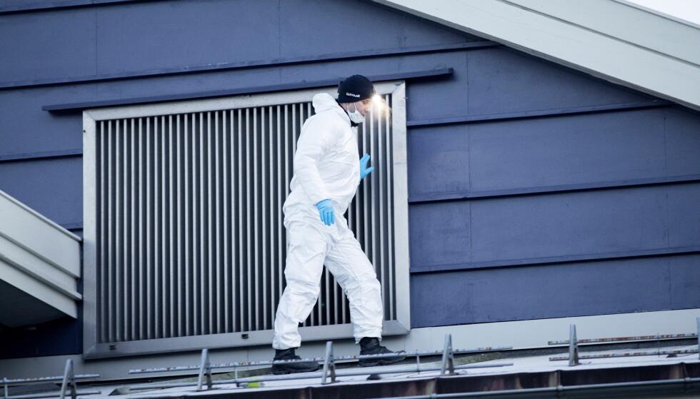 <strong>ETTERFORSKER VIDERE:</strong> Politiet tror ikke det var flere gjerningspersoner, og setter lit til den 15 år gamle guttens forklaring. De fortsetter likevel den tekniske og taktiske etterforsknigen. Foto: Tomm W. Christiansen / Dagbladet