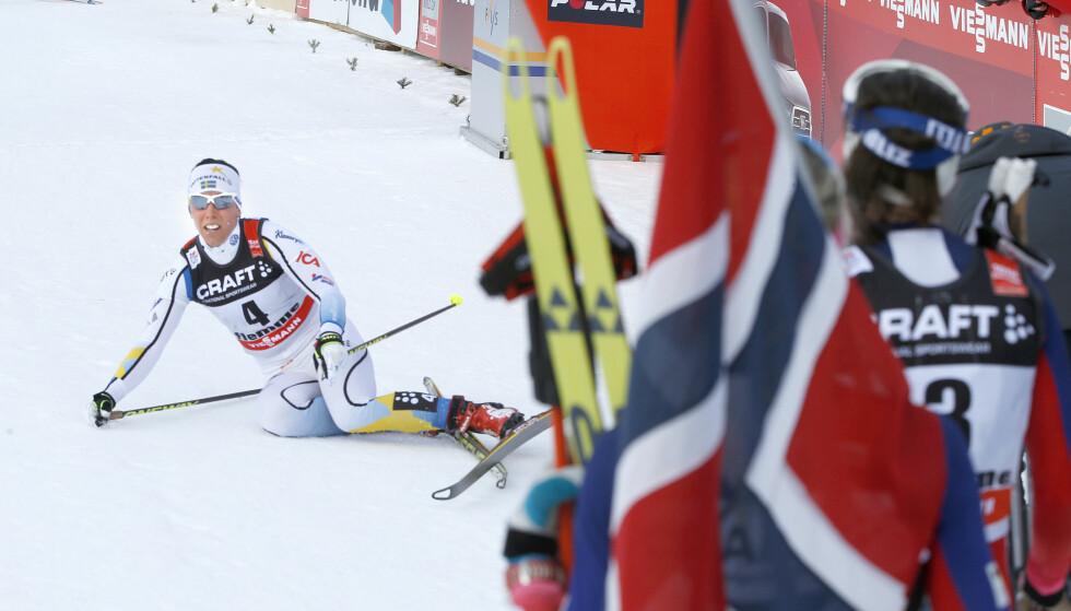 SÅ BANALT? Skyldes all svensk mistenkeliggjøring av det norske langrennsmiljøet bare tiår med nederlag i skisporet? FOTO: Terje Pedersen / NTB scanpix.
