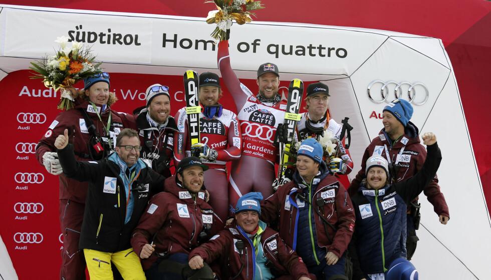 Foto: Alpinistenes avtale med Telenor løper ut 2017/18-sesongen. Foto: AP Photo/Armando Trovati