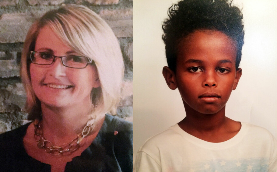DREPT: Tone Ilebekk (48) og Jakob Abdullahi Hassan (14) ble knivdrept ved Wilds Minne skole. Foto: Politiet / NTB scanpix