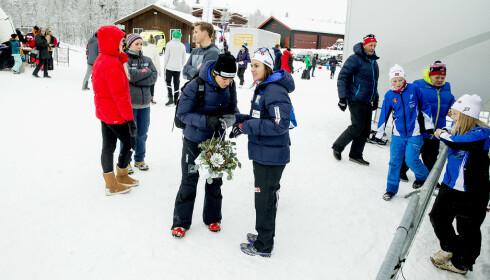 SPREK FAMILIE: Heidi Weng hadde lenge tøffe nok utfordringer i å slå mamma May-Bente, som er svært god i motbakkeløp blant annet. Foto: Bjørn Langsem / Dagbladet