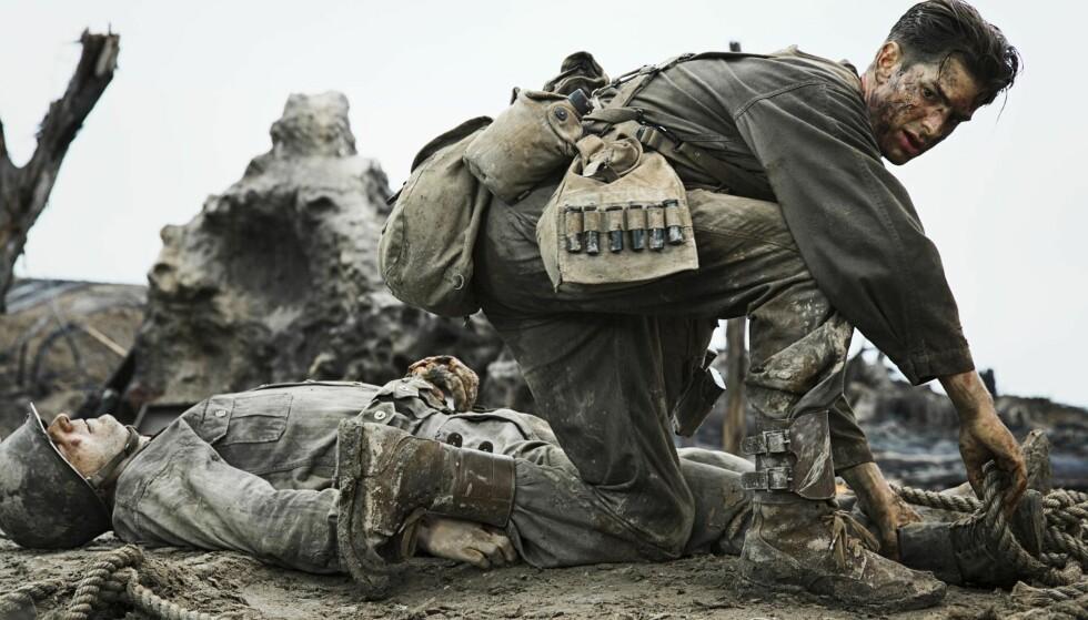 FØLSOM: Andrew Garfield gir liv til en platt heroisk rolle i «Hacksaw Ridge».