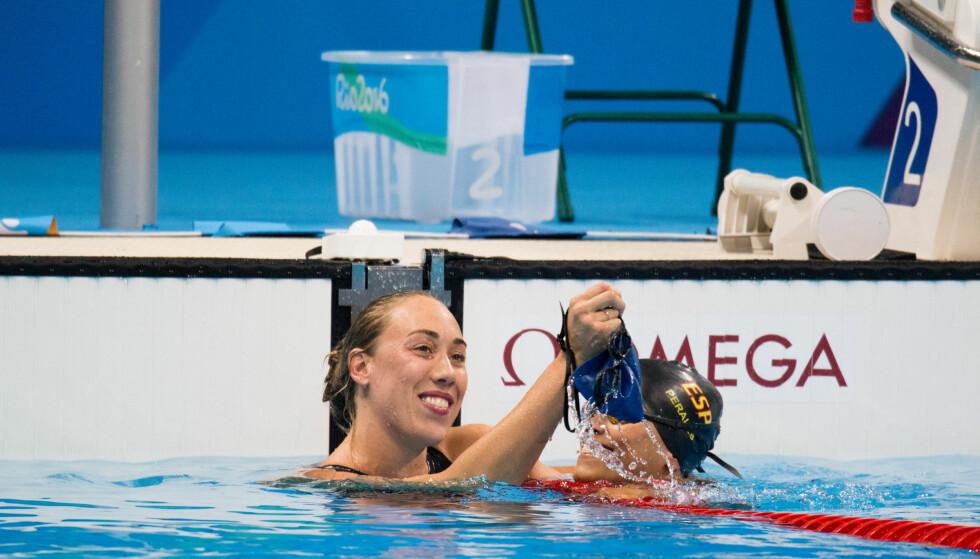 GULL: Sarah Louise Rung feirer ett av to gull i Rio de Janierio denne sommeren. Foto: Caroline Dokken Wendelborg / Norges Idrettsforbund