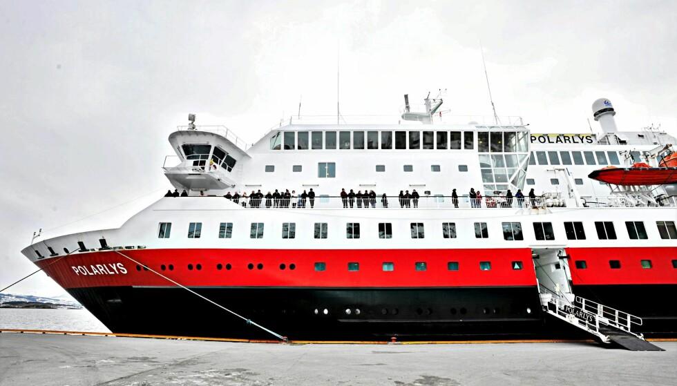 IKKE VERTSKAP FOR JULEBORD: MS «Polarlys». Her i kai ved Ålesund. FOTO: JON-ARE BERG-JACOBSEN