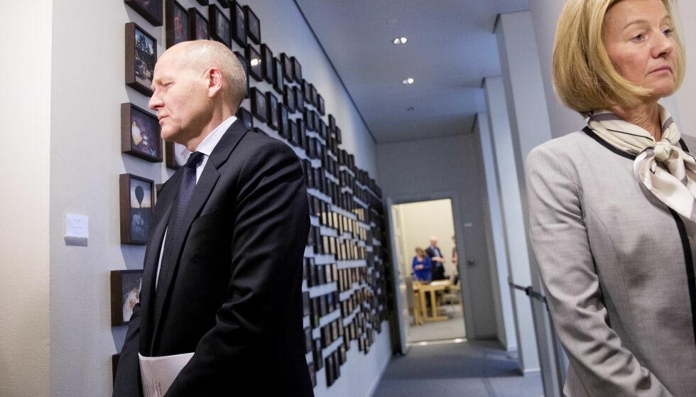 KONFLIKT: Styreleder Gunn Wærsted skal ha forsøkt å kvitte seg med konsernsjef Sigve Brekke i Telenor. I dag og i morgen skal styret møtes. Foto: Håkon Mosvold Larsen / NTB scanpix