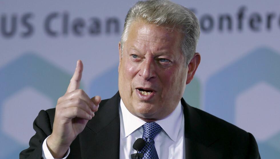 Nobelprisvinner, tidligere visepresident og klimaforkjemper Al Gore. Foto: China Stringer Network / Reuters / NTB scanpix