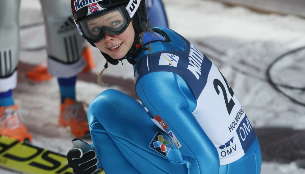 TIL TOPPS: Maren Lundby vant dagens verdenscuprenn i Russland. Foto: Terje Bendiksby / NTB scanpix
