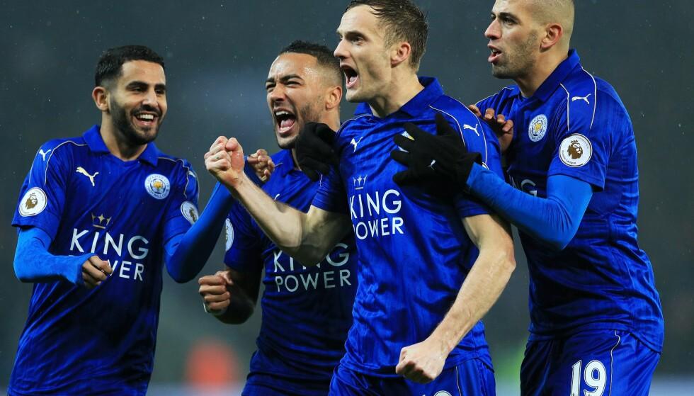 VANT MOT CITY: Leicester scoret fire ganger mot de lyseblå fra Manchester. Foto: Scanpix