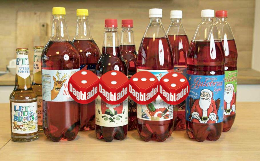 MED ELLER UTEN SUKKER?: Det er spørsmålet vi stilte oss da vi testet årets julebrusvarianter med og uten sukker.