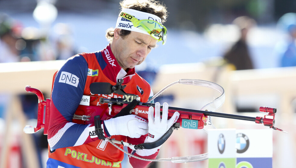 Planica, Slovenia 20161210. Ole Einar Bjørndalen under 12,5 km for menn i verdenscupen i skiskyting i Pokljuka, Slovenia, lørdag. Foto: Primoz Lovric / NTB scanpix