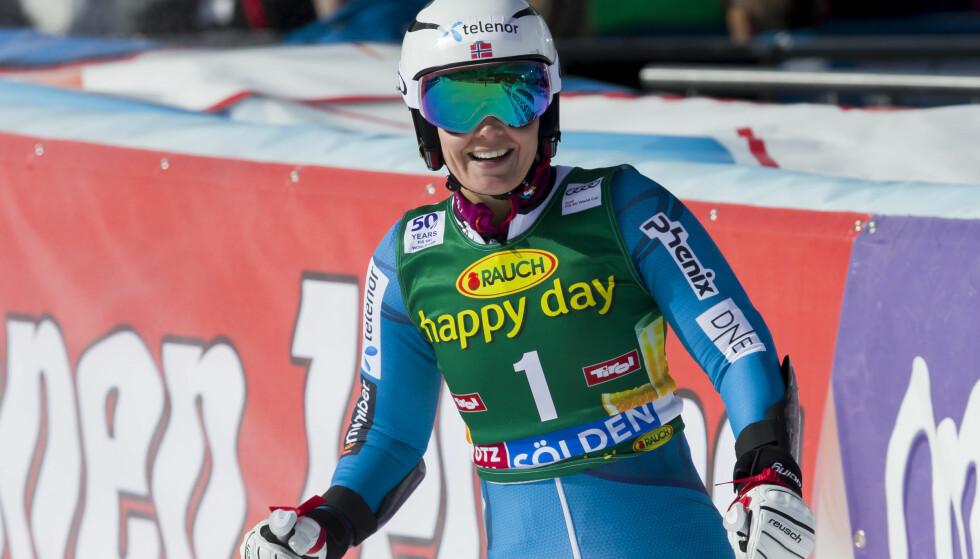 FEMTEPLASS: Nina Løseth ble nummer fem i slalåmrennet. Foto: Cornelius Poppe / NTB scanpix