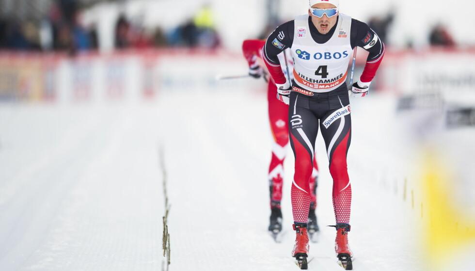 Lillehammer  20161204. World Cup langrenn 15 km klassisk jaktstart for menn. Finn Hågen Krogh i aksjon under verdenscuprennet i langrenn på Lillehammer søndag. Foto: Jon Olav Nesvold / NTB scanpix