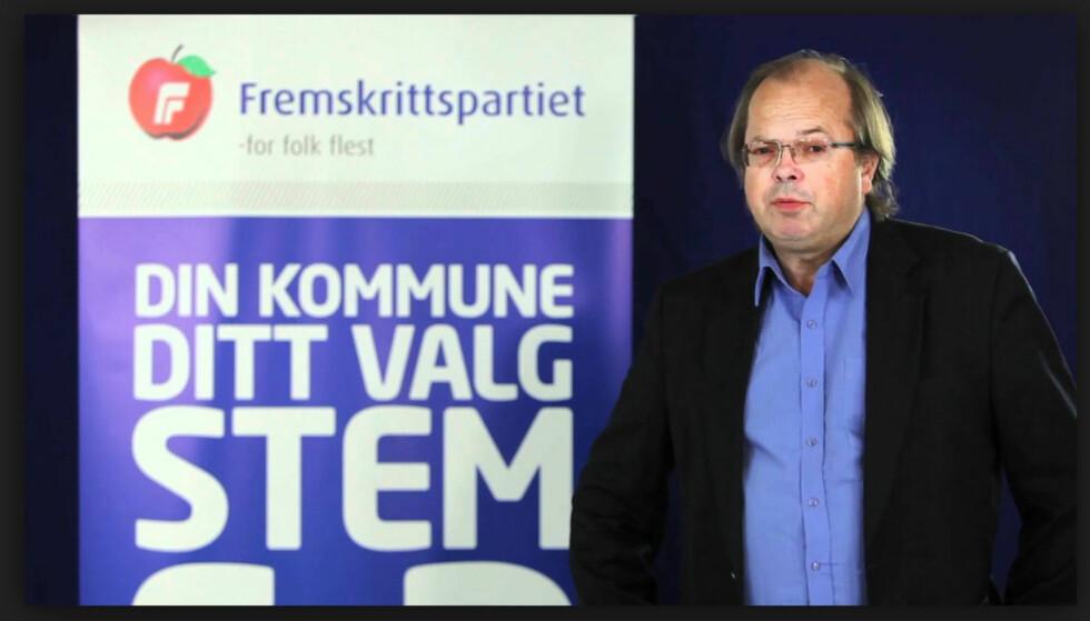 NYTT MEDLEM: Den kjente islamkritikeren og Frp-politikeren Trond Ellingsen ble sist fredag utnevnt som medlem av Utlendingsnemnda (UNE). Faksimile: Youtube-kanalen til Asker Frp.