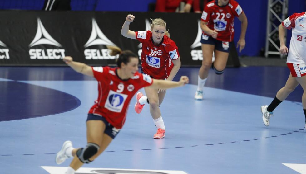 SLITESEIER: Norge vant den viktige toppkampen mot Danmark i hovedrunden og seiler mot en semifinaleplass. Norge topper gruppa med seks poeng. Foto: Bjørn Langsem