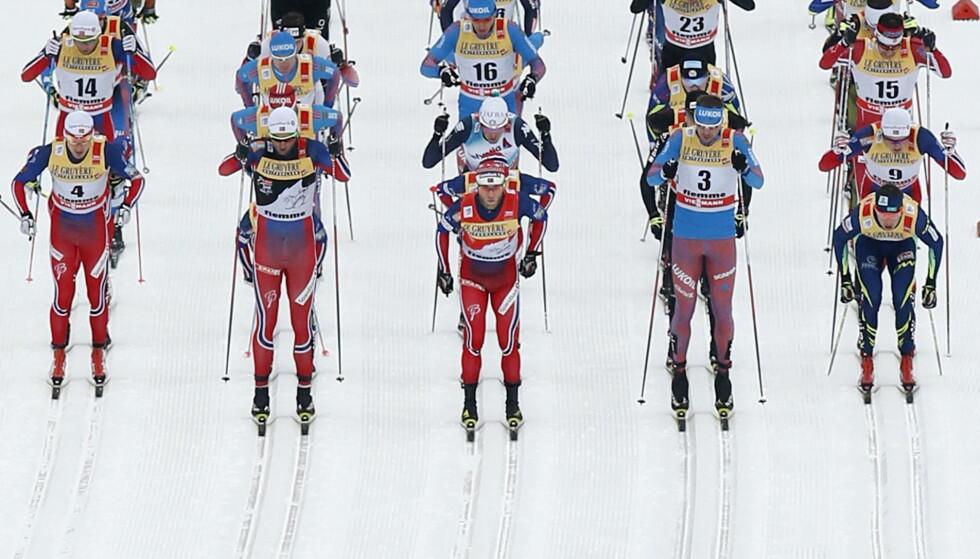 SAMMEN MOT DOPING: I dag får FIS et opprop fra verdenscupløperne i Davos der de ber skilederne sikre et rent startfelt. Foto: REUTERS/Alessandro Garofalo/NTB Scanpix
