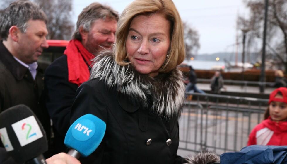 MØTE: Styreleder i Telenor, Gunn Wærsted, etter nobelutdelingen lørdag. Mandag og tirsdag har Telenor styremøte. Foto: Audun Braastad / NTB scanpix