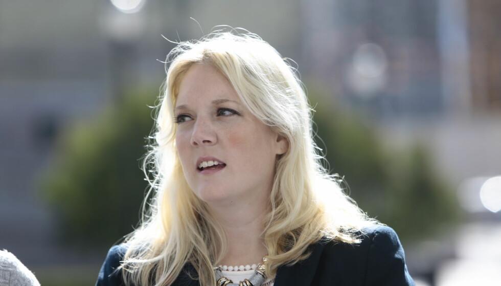 MOTBAKKE: Frp-listetopp i Oslo Aina Stenersen sitter ikke i valgkamputvalget som ligger med brukket rygg. Foto: Nina Hansen