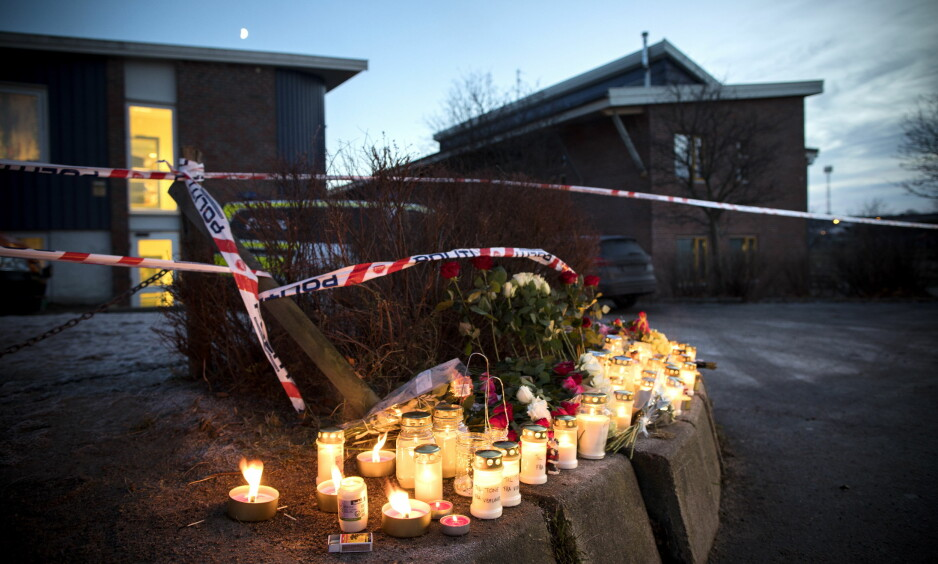 DREPT VED SKOLE: Tone Ilebekk (48) og Jakob Hassan (14) ble knivdrept utenfor Wilds Minne skole i Kristiansand. Foto: Tomm W. Christiansen / Dagbladet