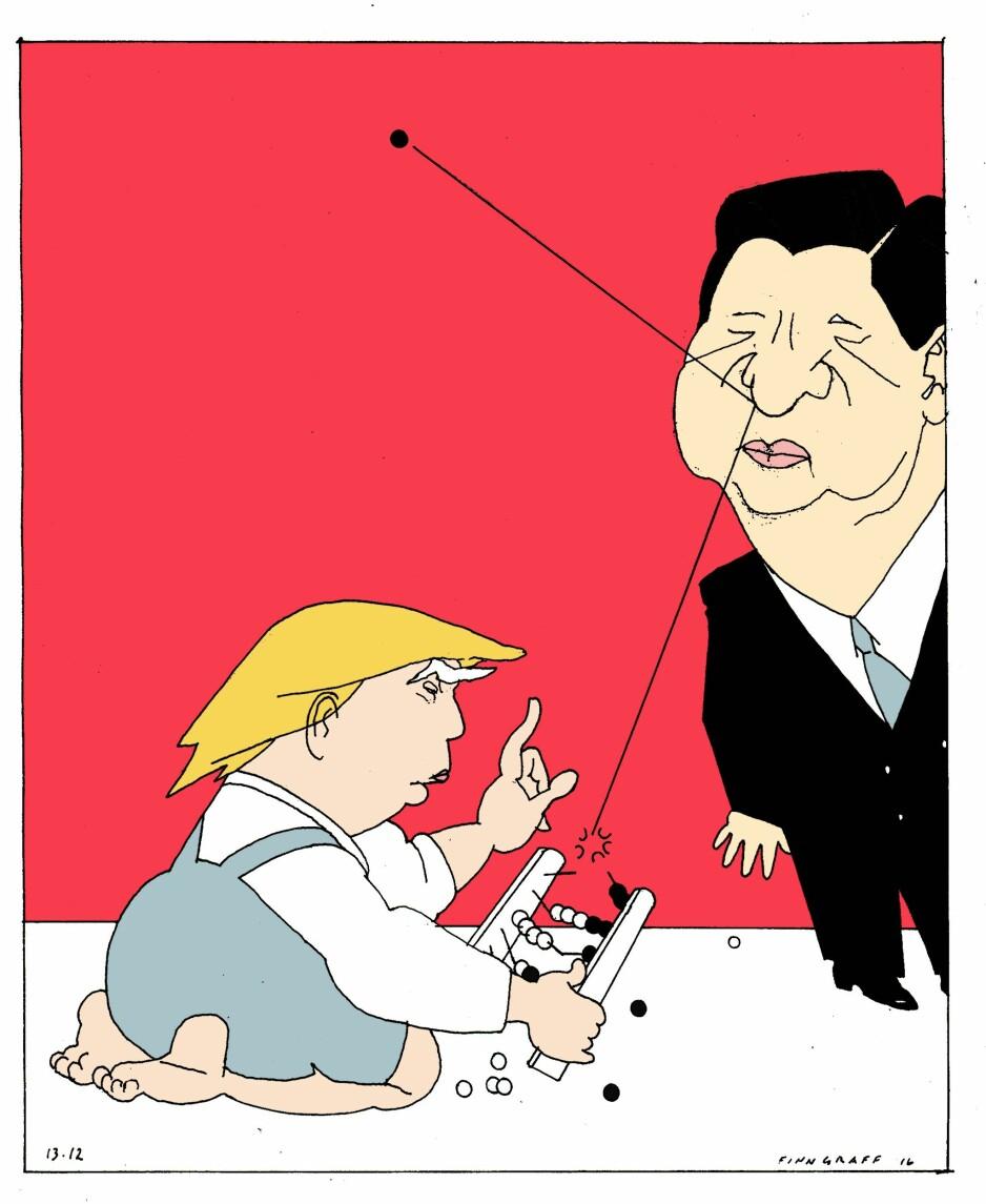 Donald Trump gambler bort Kina