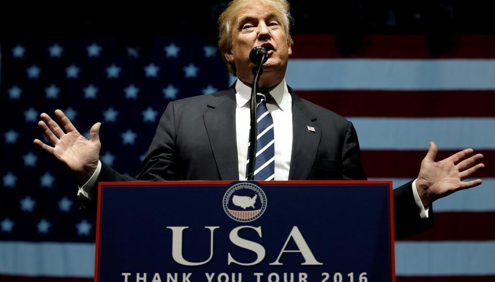 TWITTER-TIRADE: USAs påtroppende president har skapt bekymring i aksjemarkedet med angrep på to amerikanske gigantselskaper den siste uka. Foto: Mike Segar/Reuters/NTB Scanpix