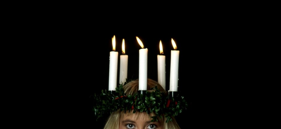HATSTORM: Det var svenske høyreekstreme som sendte hatytringer da Åhlens presenterte en mørkhudet Sankta Lucia. Foto: Anders Holmström / NTB SCANPIX