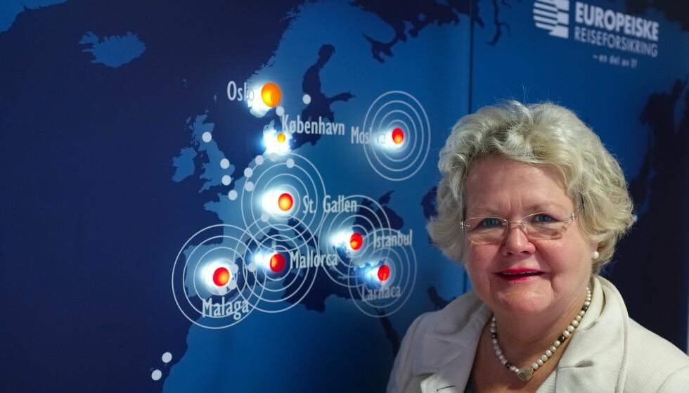 Endrer ikke navnet: -Ordet helårsforsikring er kommet for å bli, sier assisterende informasjonssjef i Europeiske reiseforsikring, Emma Elisabeth Vennersland.                          Foto: If