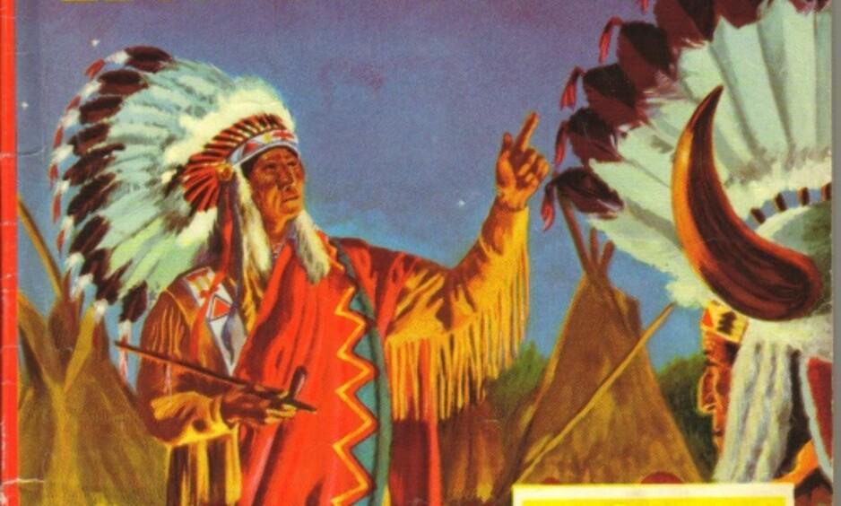 """Fra coveret på serieheftet """"Indianerne"""", som opprinnelig kom ut i 1959. Nå er det med i bokserien """"Serieperler""""."""