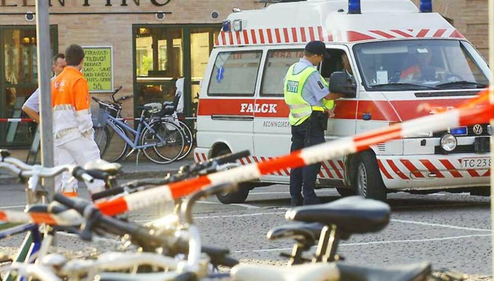 DREPT PÅ ÅPEN GATE: Politiet i Danmark står overfor nok et mulig æredrap. Foto: POL PHOTO/ALL OVER PRESS