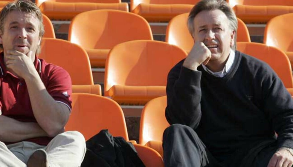 SKEPTISKE: Både Mini (t.v.) og Vidar Davidsen støtter Nils Arne Eggen i kritikken av to av landslagets antatt største stjerner, Morten Gamst Pedersen og John Arne Riise. Alle foto: Arnt E. Folvik