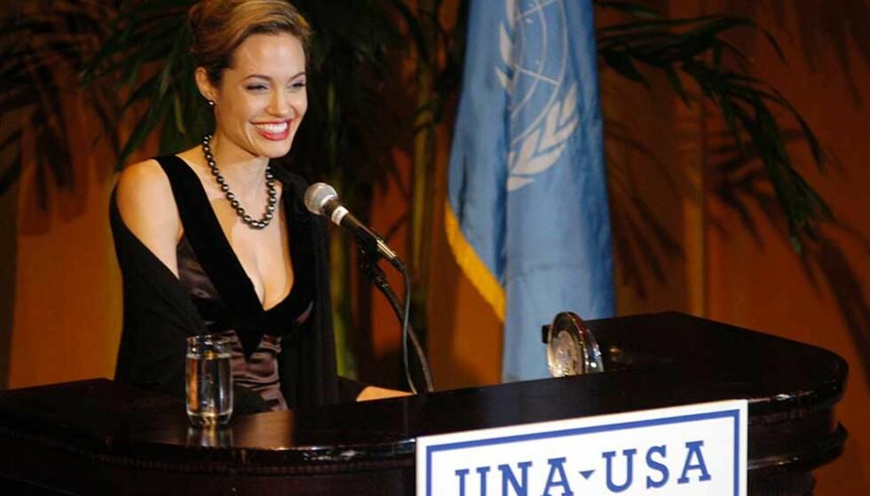 GLANSBILDE FOR FN: Angelina Jolie har engasjert seg mer enn de fleste kjendiser som låner bort navnet sitt til gode saker. FOTO: SCANPIX/AP