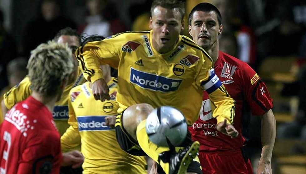 MÅLTØRKE: Arild Sundgot har ikke scoret siden han satte inn et straffespark mot Ham-Kam 28.august. Siste spillemål kom 13.august mot Odd. Foto: Scanpix