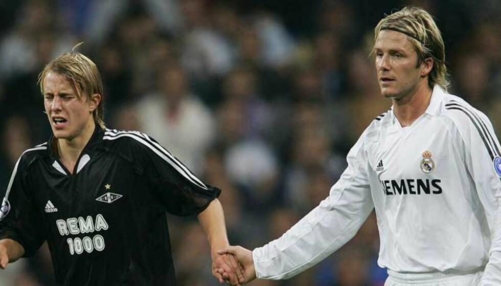 TAKK FOR KAMPEN: David Beckham synes Per Ciljan Skjelbred leverte en god innsats. Foto: Scanpix