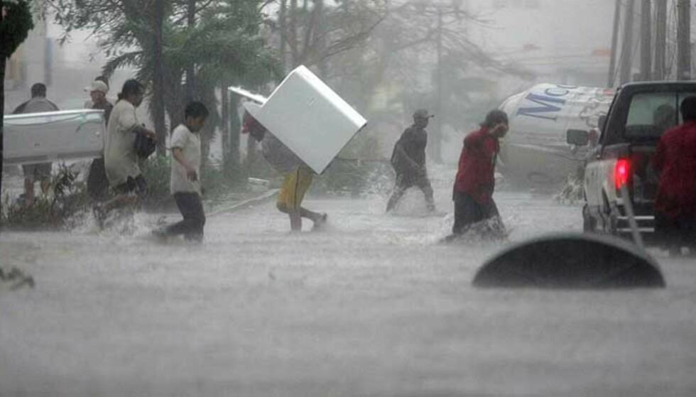 PLYNDRING: Cancun er lovløst mens Wilma herjer. Det som ikke blir ødelagt av orkanen, blir plyndret. Foto: Reuters/Scanpix