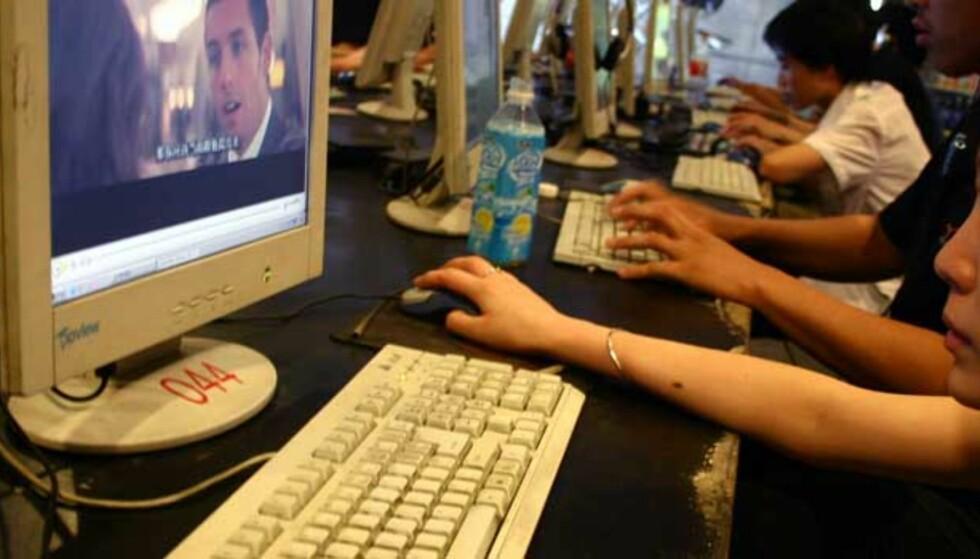 UTBREDT: 60 prosent av all internett-trafikken i 2004 var filnedlastninger. Vi vet derimot ikke hvor stor del av dette de ulovlige nedlastningene utgjør. Foto: SCANPIX