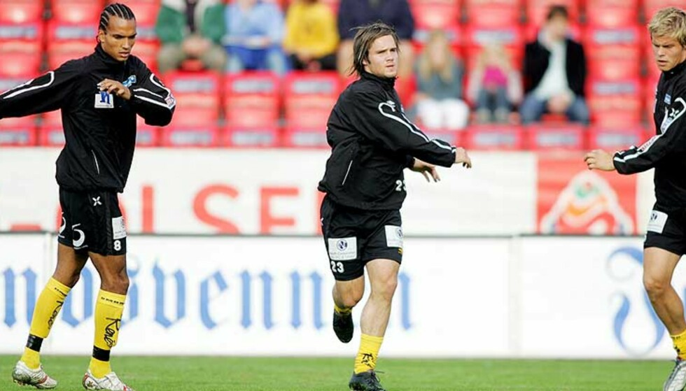 SMITTEFARE: Alex Valencia (f.v.) og Kristofer Hæstad må holdes atskilt fra Marius Johnsen, som i dag måtte stå over trening på grunn av sykdom. Foto: Håkon Mosvold Larsen/Scanpix