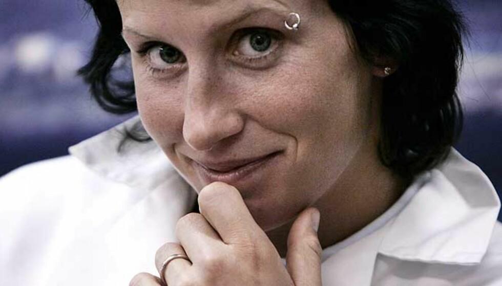 LYSTPRESSER:  Vårt kanskje største OL-håp Marit Bjørgen elsker å presse kroppen, men liker ikke alt fokuset på hvor sterk hun er. Foto: Kurt Pedersen