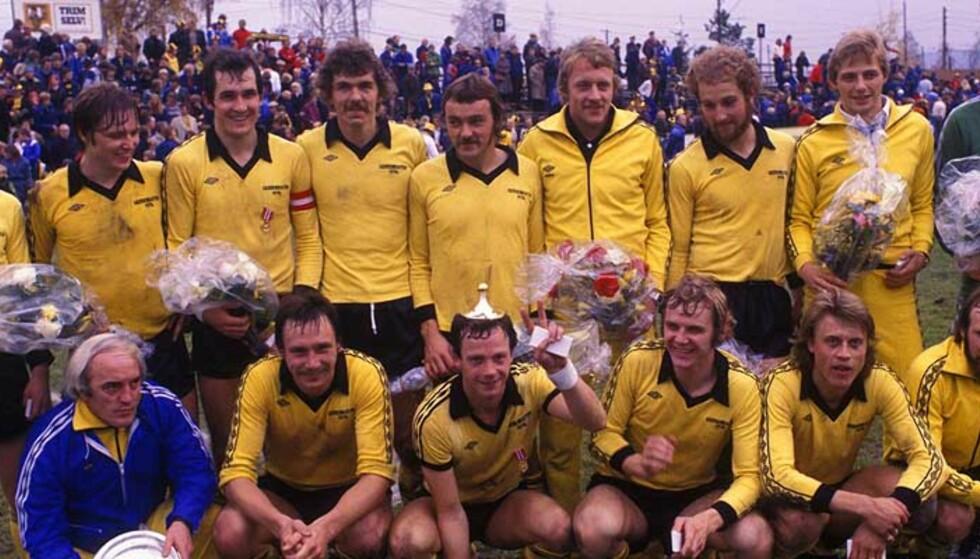 SERIEMESTERE: Tom Lund er kaptein på laget fra 1977. Her har Lillestrøm akkurat blitt seriemestere, for tredje gang. Foto: SCANPIX
