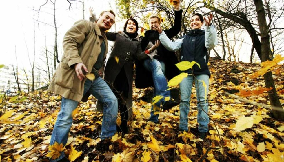 FILMENTUSIASTER: Denne gjengen går gjerne til filmen. Fra venstre produsent Anders T. Moland, Hilde Lyrån, Dennis Storhøi og Lisa Tønne. Foto: Rune Myhre