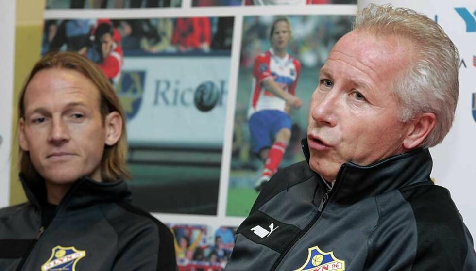 KLARE FRA JANUAR: Torgeir Bjarmann (t.v.) og Per Brogeland er klare for nye jobber i Lyn. Foto: Scanpix