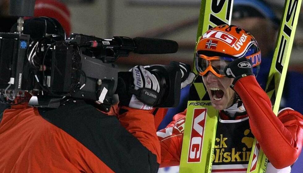 GLAD: Roar Ljøkelsøy imponerte i Oberstdorf. Foto: Reuters/Scanpix